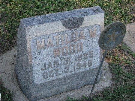 WOOD, MATHILDA M. - Turner County, South Dakota | MATHILDA M. WOOD - South Dakota Gravestone Photos