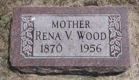 WOOD, RENA V. - Turner County, South Dakota | RENA V. WOOD - South Dakota Gravestone Photos