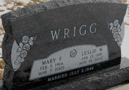 WRIGG, MARY F. - Turner County, South Dakota | MARY F. WRIGG - South Dakota Gravestone Photos