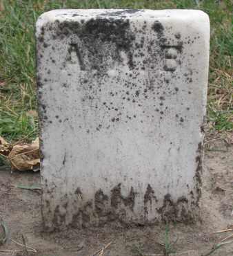 A.A.B., UNKNOWN - Union County, South Dakota   UNKNOWN A.A.B. - South Dakota Gravestone Photos