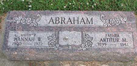 GROON ABRAHAM, HANNAH WILHELMINA - Union County, South Dakota | HANNAH WILHELMINA GROON ABRAHAM - South Dakota Gravestone Photos