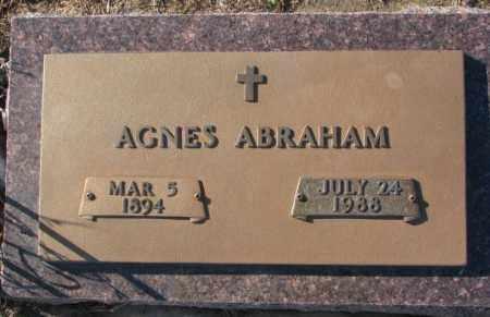 ABRAHAM, AGNES - Union County, South Dakota   AGNES ABRAHAM - South Dakota Gravestone Photos