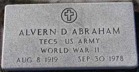 ABRAHAM, ALVERN D. (WW II) - Union County, South Dakota | ALVERN D. (WW II) ABRAHAM - South Dakota Gravestone Photos