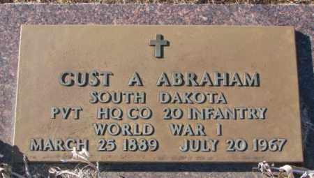 ABRAHAM, GUST A. (WW I) - Union County, South Dakota   GUST A. (WW I) ABRAHAM - South Dakota Gravestone Photos
