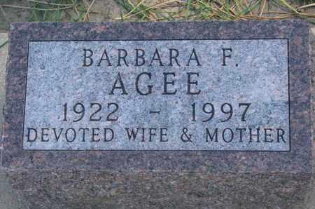 AGEE, BARBARA F. - Union County, South Dakota | BARBARA F. AGEE - South Dakota Gravestone Photos