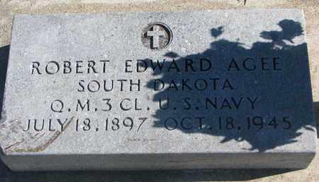 AGEE, ROBERT EDWARD (US NAVY) - Union County, South Dakota   ROBERT EDWARD (US NAVY) AGEE - South Dakota Gravestone Photos