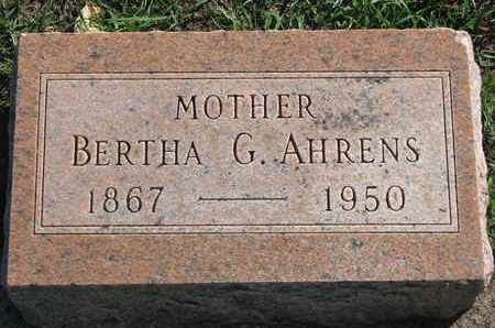 AHRENS, BERTHA G. - Union County, South Dakota | BERTHA G. AHRENS - South Dakota Gravestone Photos