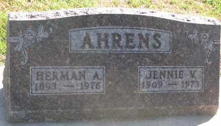 AHRENS, JENNIE V. - Union County, South Dakota | JENNIE V. AHRENS - South Dakota Gravestone Photos