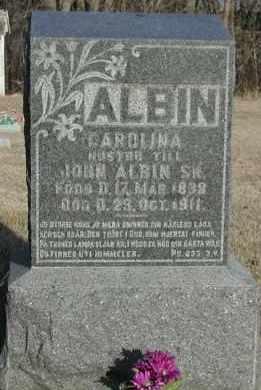 ALBIN, CAROLINA - Union County, South Dakota   CAROLINA ALBIN - South Dakota Gravestone Photos