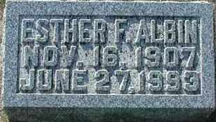 ALBIN, ESTHER F - Union County, South Dakota | ESTHER F ALBIN - South Dakota Gravestone Photos