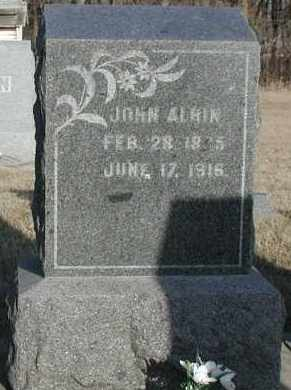 ALBIN, JOHN SR. - Union County, South Dakota | JOHN SR. ALBIN - South Dakota Gravestone Photos