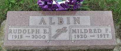 ALBIN, MILDRED F. - Union County, South Dakota | MILDRED F. ALBIN - South Dakota Gravestone Photos