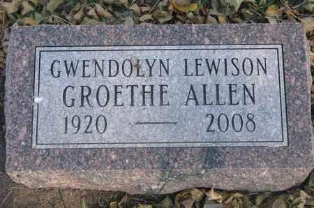 ALLEN, GWENDOLYN - Union County, South Dakota | GWENDOLYN ALLEN - South Dakota Gravestone Photos