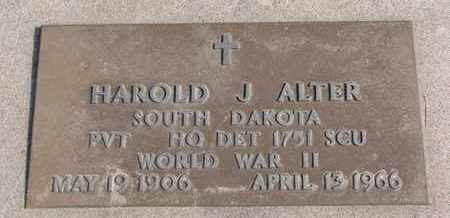 ALTER, HAROLD J. (WORLD WAR II) - Union County, South Dakota | HAROLD J. (WORLD WAR II) ALTER - South Dakota Gravestone Photos