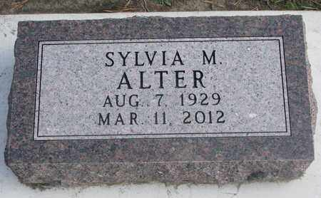 ALTER, SYLVIA M. - Union County, South Dakota | SYLVIA M. ALTER - South Dakota Gravestone Photos