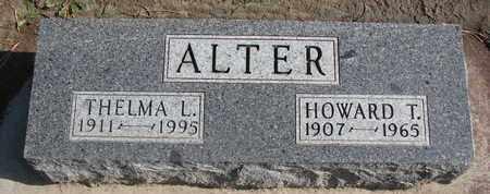 ALTER, HOWARD T. - Union County, South Dakota | HOWARD T. ALTER - South Dakota Gravestone Photos