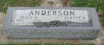 ANDERSON, ELSIE A - Union County, South Dakota | ELSIE A ANDERSON - South Dakota Gravestone Photos