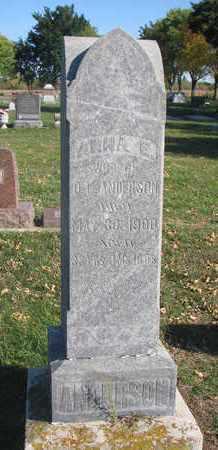 ANDERSON, ANNA E. - Union County, South Dakota   ANNA E. ANDERSON - South Dakota Gravestone Photos