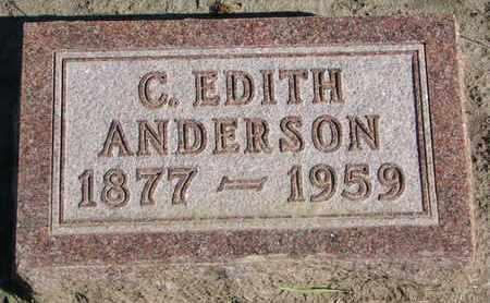 ANDERSON, C. EDITH - Union County, South Dakota | C. EDITH ANDERSON - South Dakota Gravestone Photos