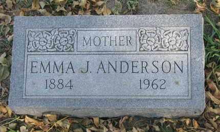 ANDERSON, EMMA J. - Union County, South Dakota   EMMA J. ANDERSON - South Dakota Gravestone Photos