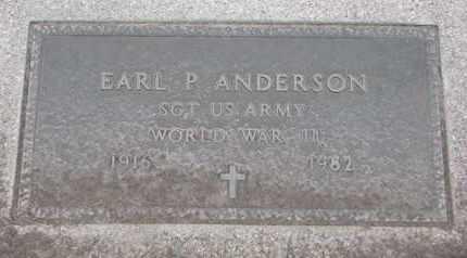 ANDERSON, EARL P. (WW II) - Union County, South Dakota   EARL P. (WW II) ANDERSON - South Dakota Gravestone Photos