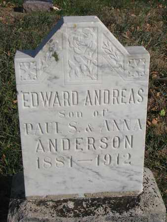 ANDERSON, EDWARD ANDREAS - Union County, South Dakota   EDWARD ANDREAS ANDERSON - South Dakota Gravestone Photos