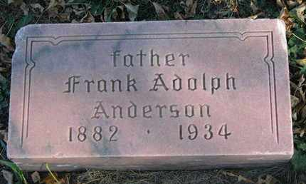 ANDERSON, FRANK ADOLPH - Union County, South Dakota | FRANK ADOLPH ANDERSON - South Dakota Gravestone Photos