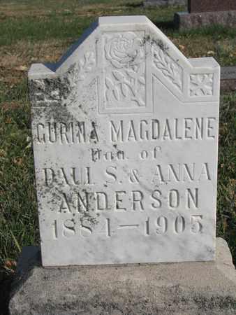 ANDERSON, GURINA MAGDALENE - Union County, South Dakota   GURINA MAGDALENE ANDERSON - South Dakota Gravestone Photos