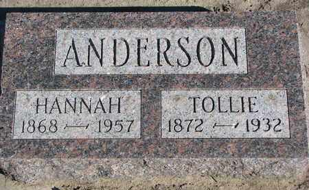 ANDERSON, HANNAH - Union County, South Dakota | HANNAH ANDERSON - South Dakota Gravestone Photos