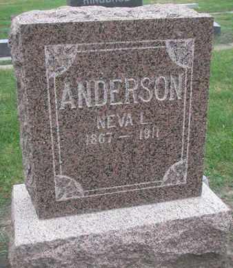 ANDERSON, NEVA L. - Union County, South Dakota | NEVA L. ANDERSON - South Dakota Gravestone Photos