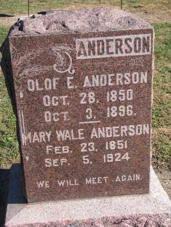 WALE ANDERSON, MARY - Union County, South Dakota | MARY WALE ANDERSON - South Dakota Gravestone Photos
