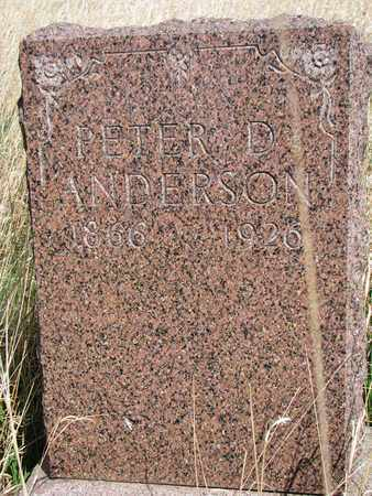 ANDERSON, PETER D. - Union County, South Dakota | PETER D. ANDERSON - South Dakota Gravestone Photos