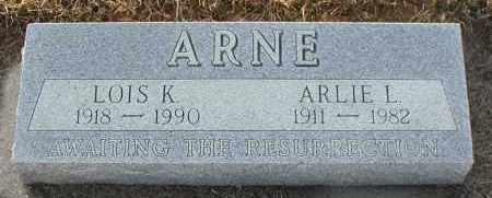 ARNE, ARLIE L - Union County, South Dakota | ARLIE L ARNE - South Dakota Gravestone Photos