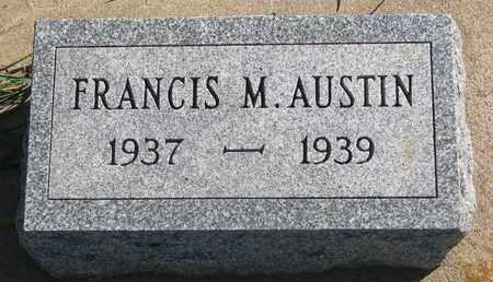 AUSTIN, FRANCIS M. - Union County, South Dakota | FRANCIS M. AUSTIN - South Dakota Gravestone Photos