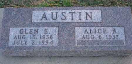 AUSTIN, GLEN E. - Union County, South Dakota | GLEN E. AUSTIN - South Dakota Gravestone Photos