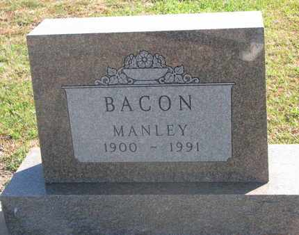 BACON, MANLEY - Union County, South Dakota | MANLEY BACON - South Dakota Gravestone Photos