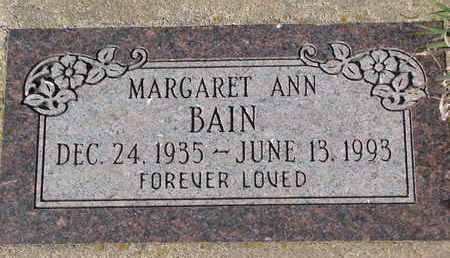 BAIN, MARGARET ANN - Union County, South Dakota | MARGARET ANN BAIN - South Dakota Gravestone Photos