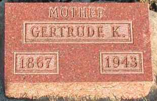 BALL, GERTRUDE K - Union County, South Dakota | GERTRUDE K BALL - South Dakota Gravestone Photos