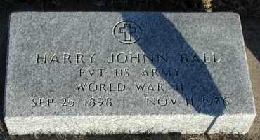 BALL, HARRY JOHNN - Union County, South Dakota | HARRY JOHNN BALL - South Dakota Gravestone Photos