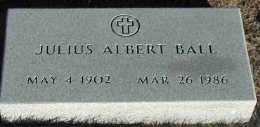 BALL, JULIUS ALBERT - Union County, South Dakota | JULIUS ALBERT BALL - South Dakota Gravestone Photos
