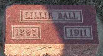 BALL, LILLIE - Union County, South Dakota | LILLIE BALL - South Dakota Gravestone Photos