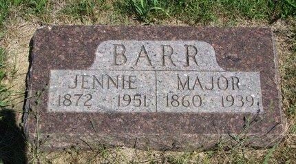 BARR, MAJOR - Union County, South Dakota   MAJOR BARR - South Dakota Gravestone Photos