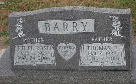 BARRY, THOMAS E. - Union County, South Dakota | THOMAS E. BARRY - South Dakota Gravestone Photos