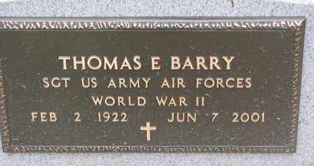 BARRY, THOMAS E. (WORLD WAR II) - Union County, South Dakota | THOMAS E. (WORLD WAR II) BARRY - South Dakota Gravestone Photos