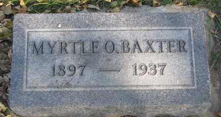 BAXTER, MYRTLE O. - Union County, South Dakota   MYRTLE O. BAXTER - South Dakota Gravestone Photos