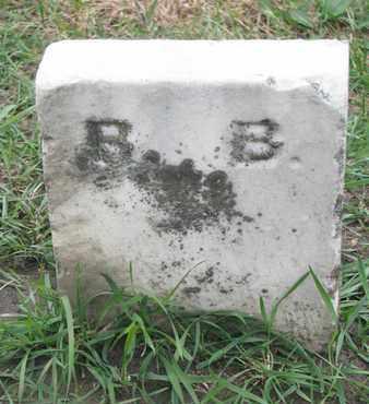 B.B., UNKNOWN - Union County, South Dakota | UNKNOWN B.B. - South Dakota Gravestone Photos