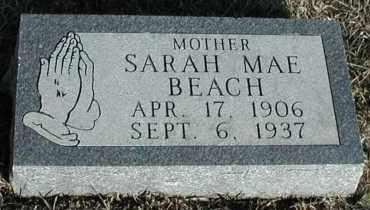 BEACH, SARAH MAE - Union County, South Dakota   SARAH MAE BEACH - South Dakota Gravestone Photos