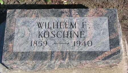 KOSCHINE, WILHELM F. - Union County, South Dakota | WILHELM F. KOSCHINE - South Dakota Gravestone Photos
