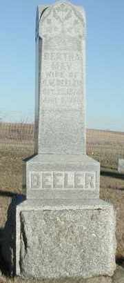 BEELER, BERTHA MAY - Union County, South Dakota | BERTHA MAY BEELER - South Dakota Gravestone Photos