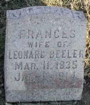 BEELER, FRANCES - Union County, South Dakota | FRANCES BEELER - South Dakota Gravestone Photos